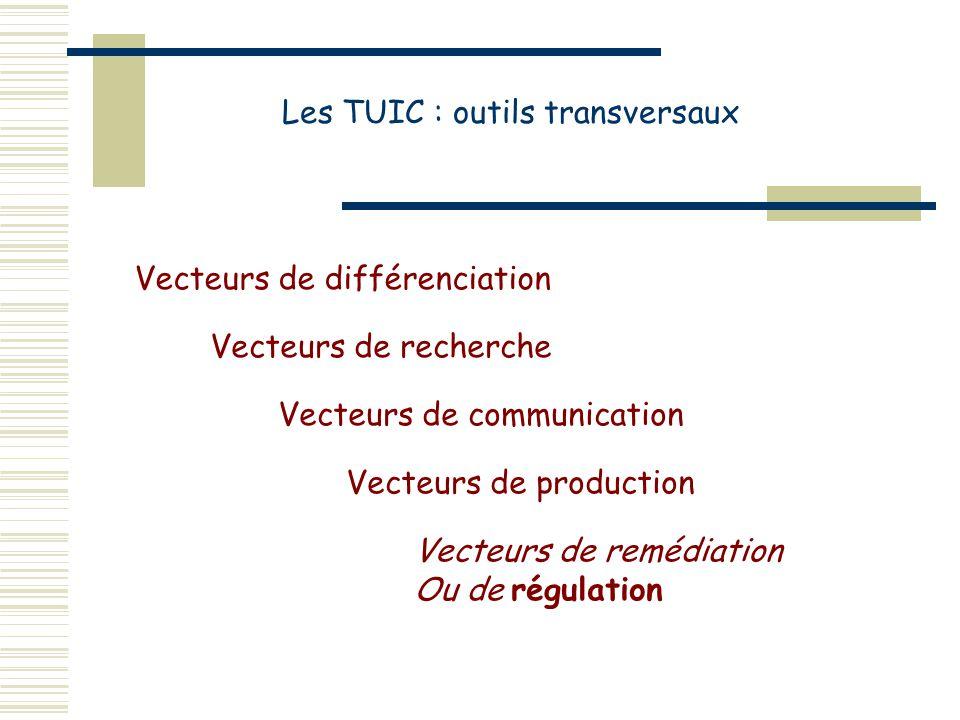 Les TUIC : outils transversaux