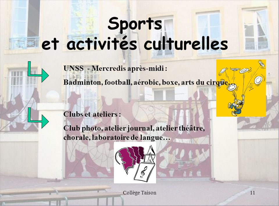 et activités culturelles