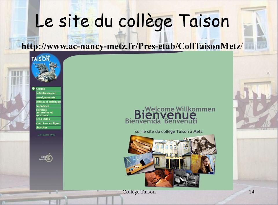 Le site du collège Taison