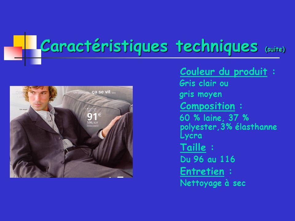 Caractéristiques techniques (suite)