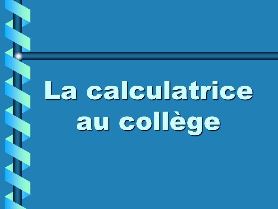 La calculatrice au collège