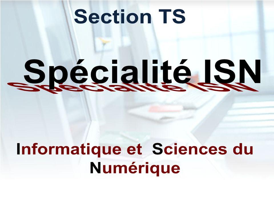 Présentation de la Spécialité SIN Système d Information et Numérique