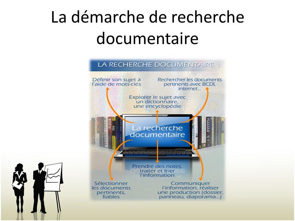 La démarche de recherche documentaire