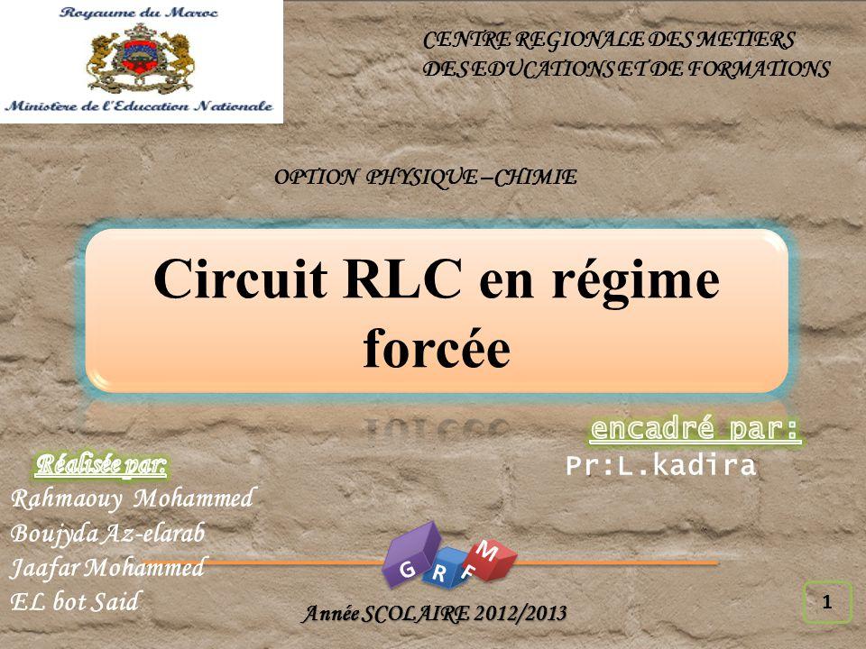 OPTION PHYSIQUE –CHIMIE Circuit RLC en régime forcée