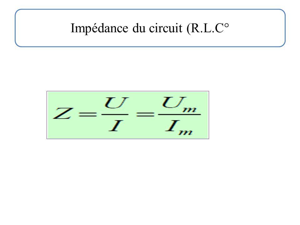 Impédance du circuit (R.L.C°