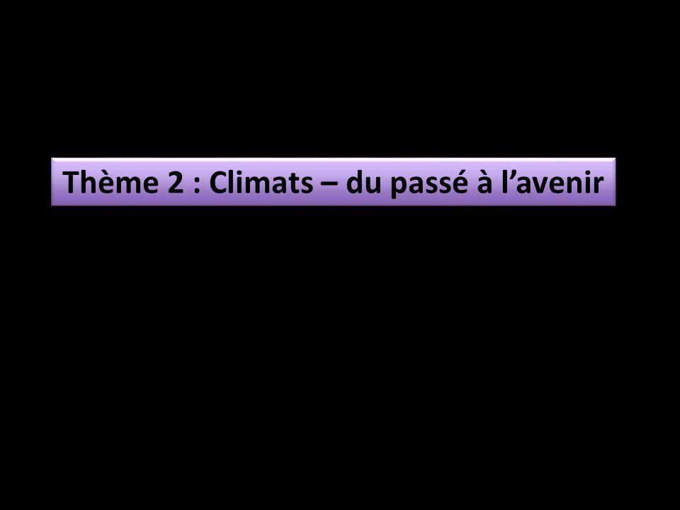 Thème 2 : Climats – du passé à l'avenir
