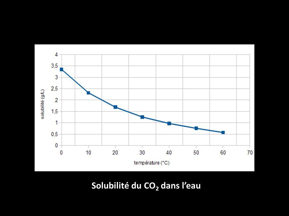 Solubilité du CO2 dans l'eau