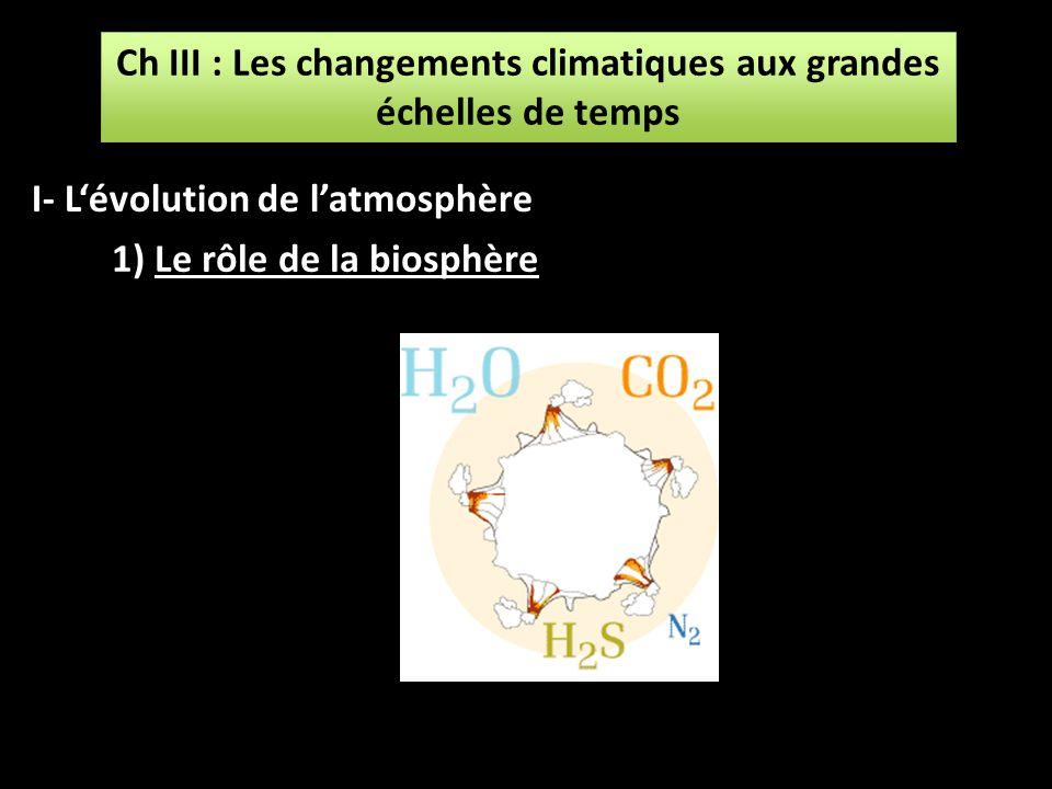 Ch III : Les changements climatiques aux grandes