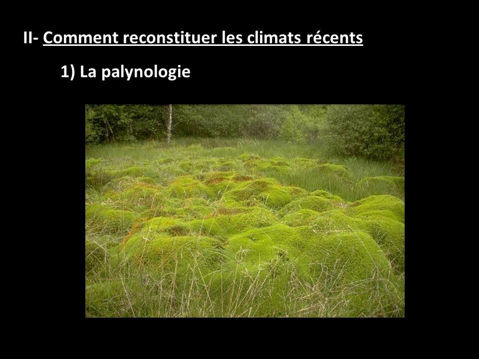 II- Comment reconstituer les climats récents
