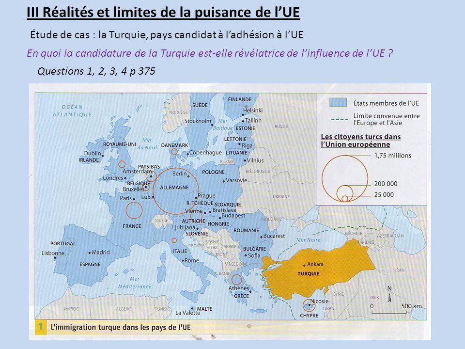 III Réalités et limites de la puisance de l'UE