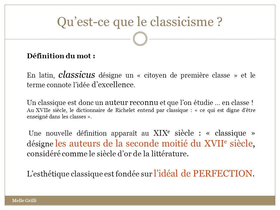 Qu'est-ce que le classicisme