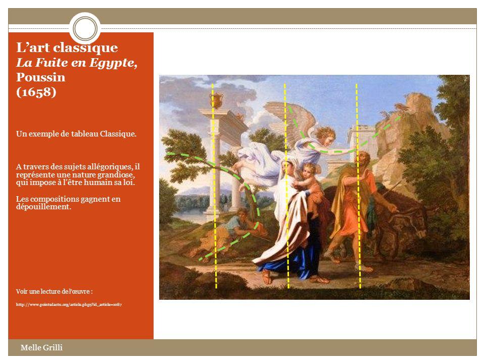 L'art classique La Fuite en Egypte, Poussin (1658)