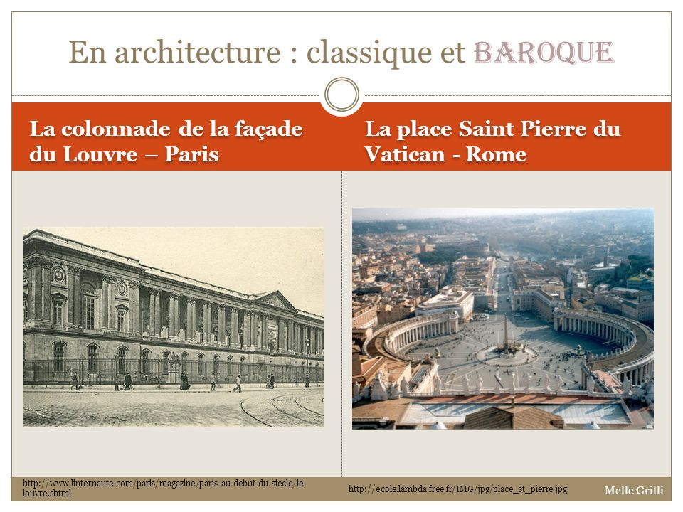 En architecture : classique et baroque