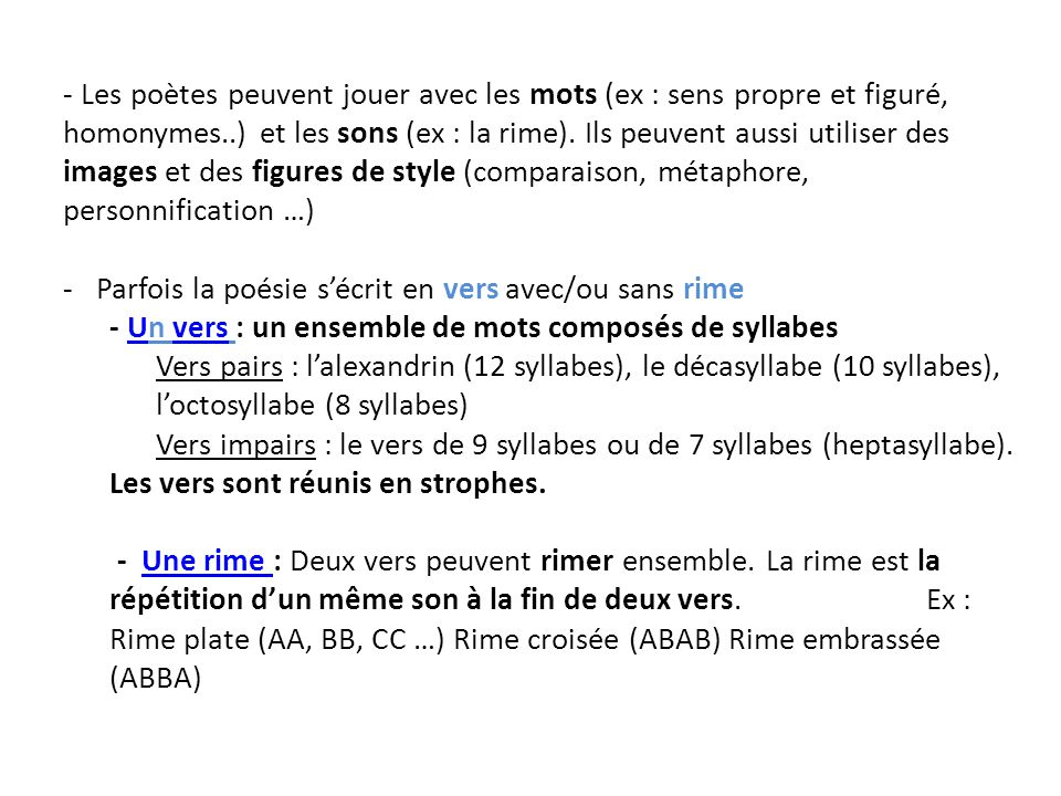 vers de 8 syllabes