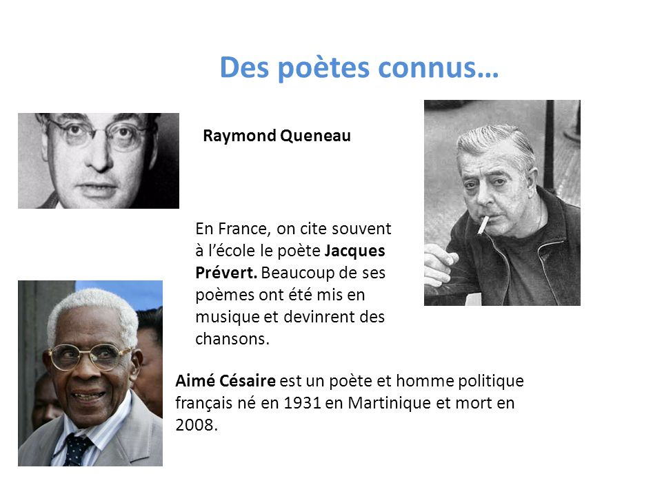 Des poètes connus… Raymond Queneau
