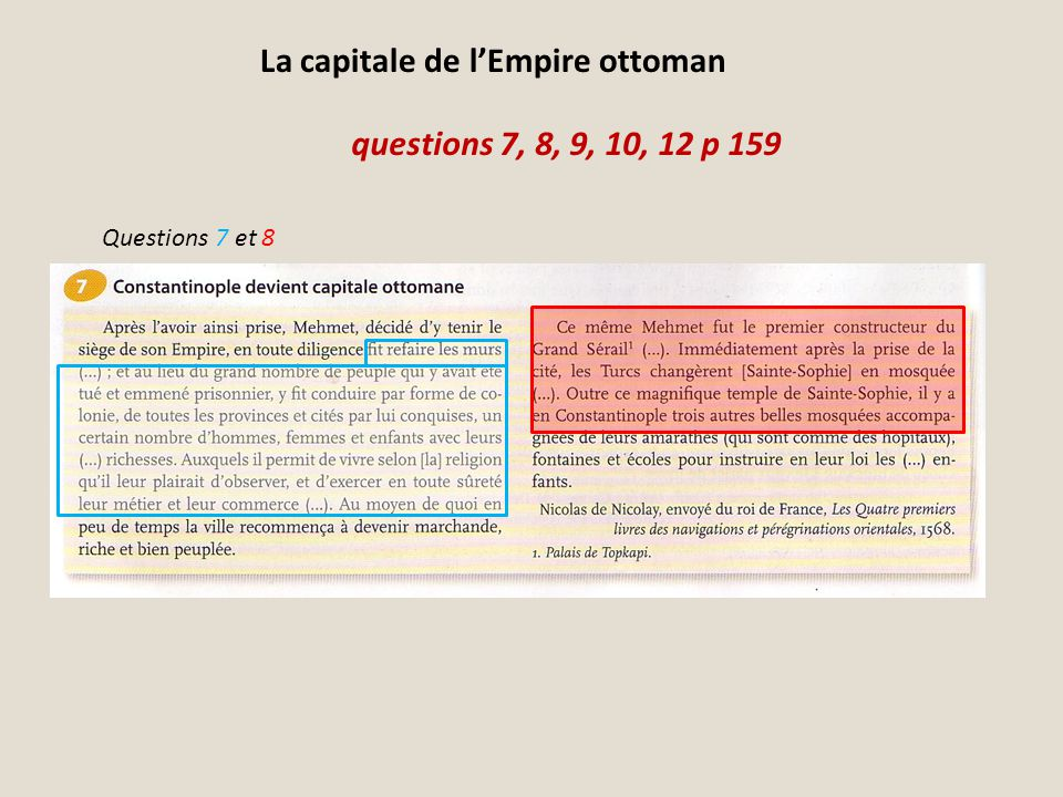 La capitale de l'Empire ottoman