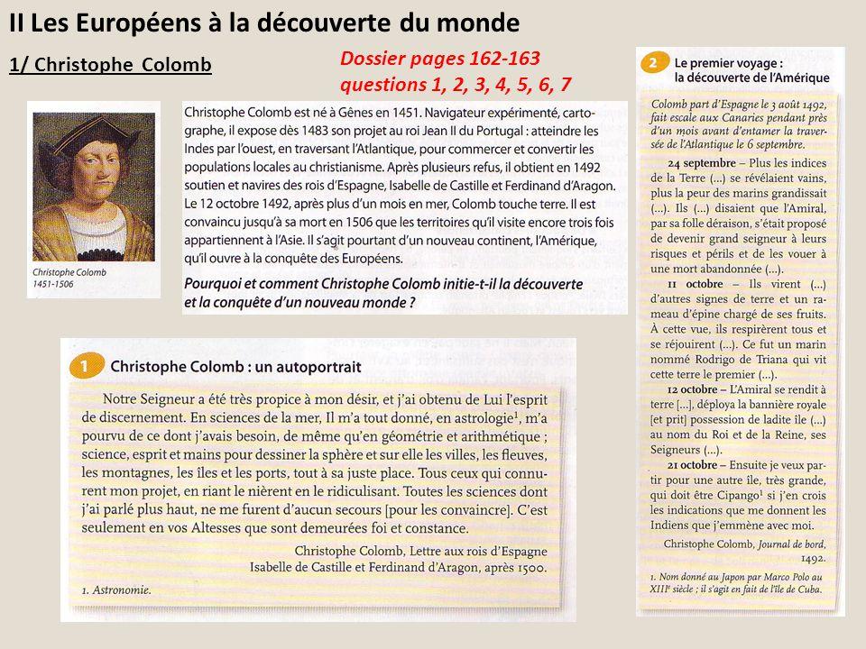 II Les Européens à la découverte du monde