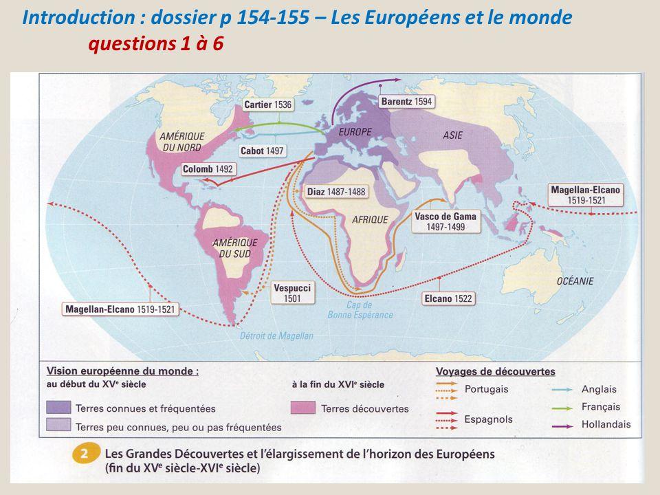 Introduction : dossier p 154-155 – Les Européens et le monde