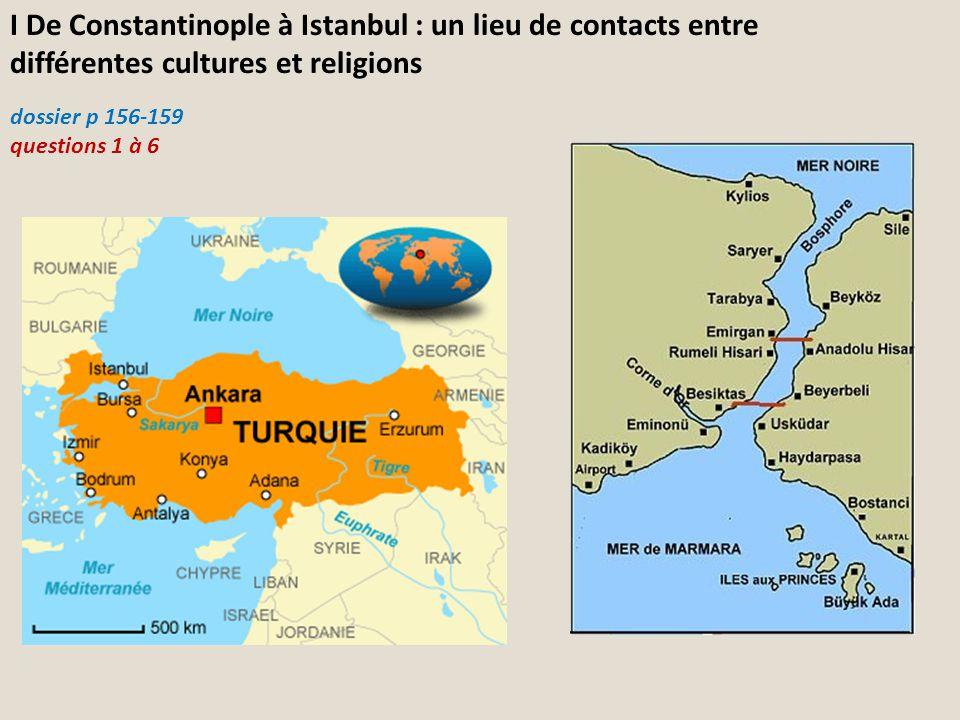 I De Constantinople à Istanbul : un lieu de contacts entre différentes cultures et religions