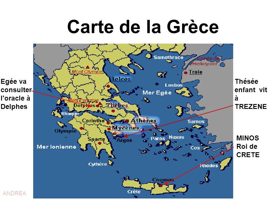 Carte de la Grèce Egée va consulter l oracle à Delphes