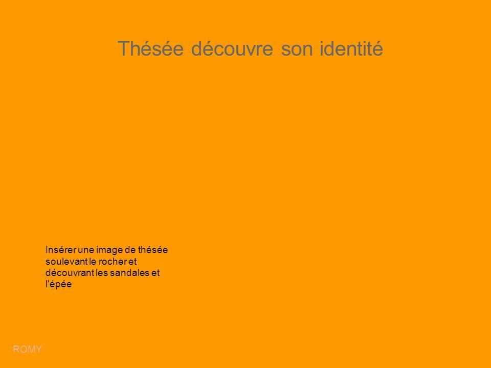 Thésée découvre son identité