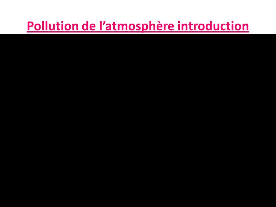 Pollution de l'atmosphère introduction