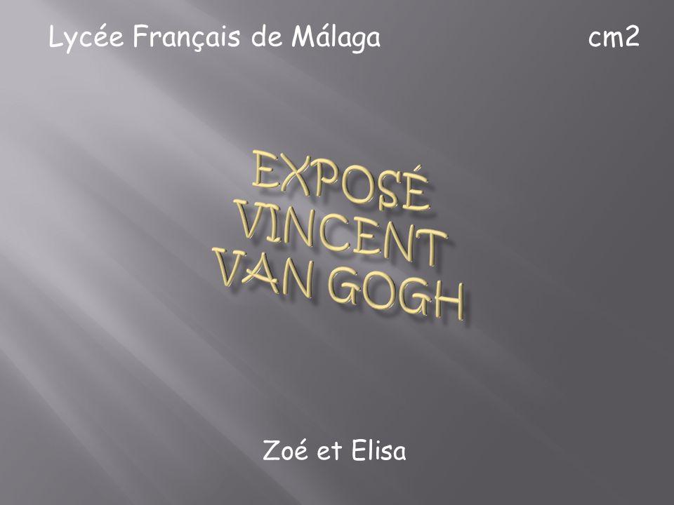 EXPOSÉ VINCENT VAN GOGH