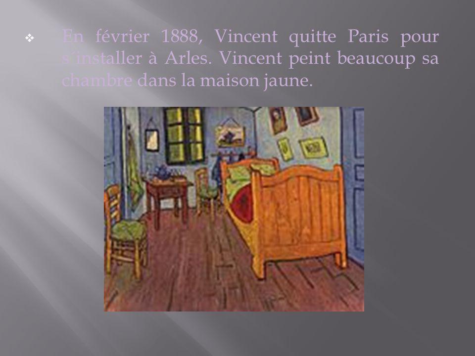 En février 1888, Vincent quitte Paris pour s´installer à Arles