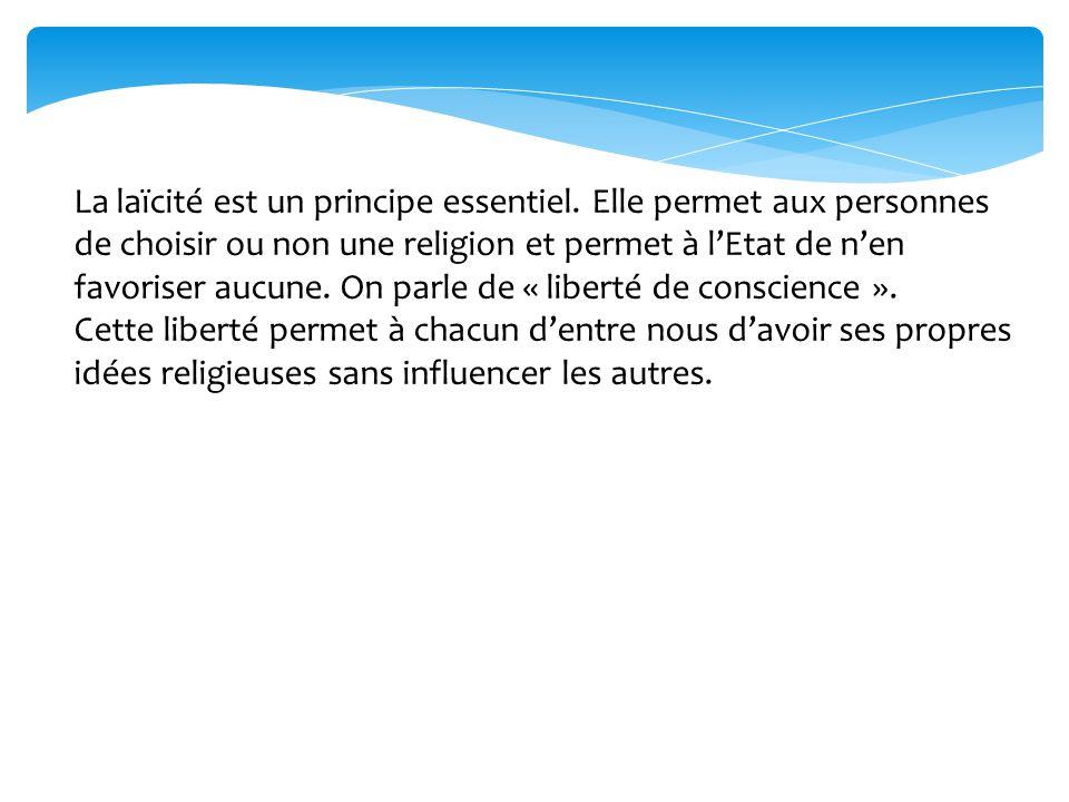 La laïcité est un principe essentiel