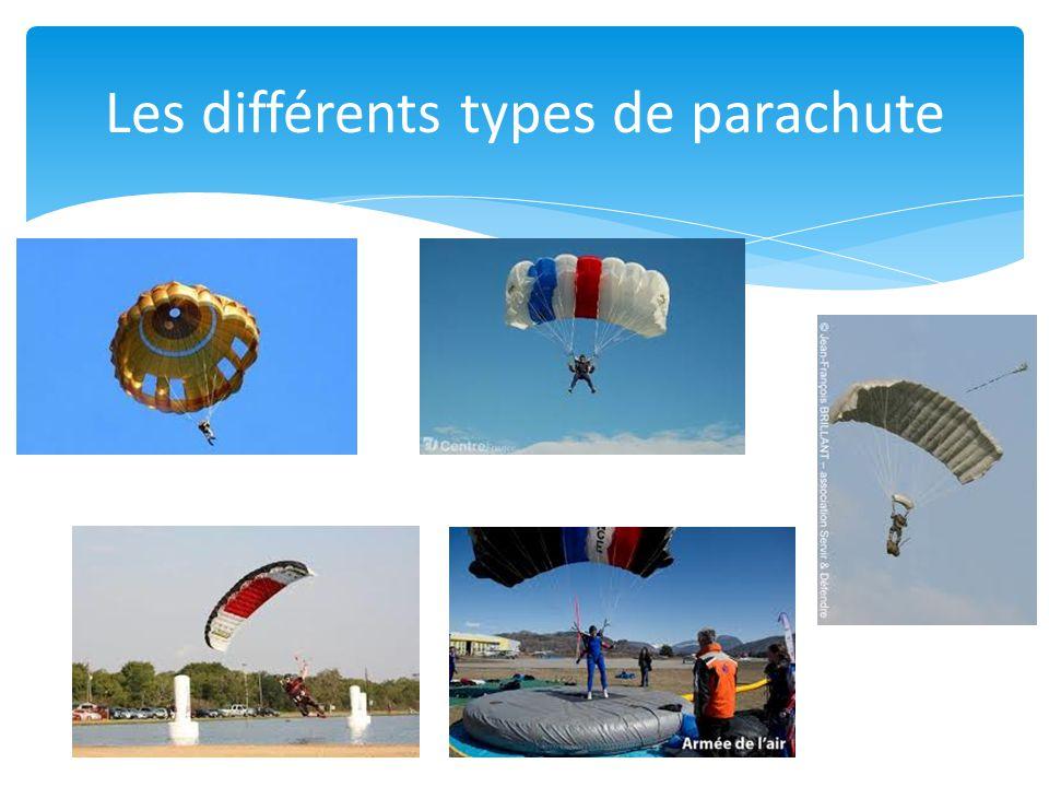 Les différents types de parachute