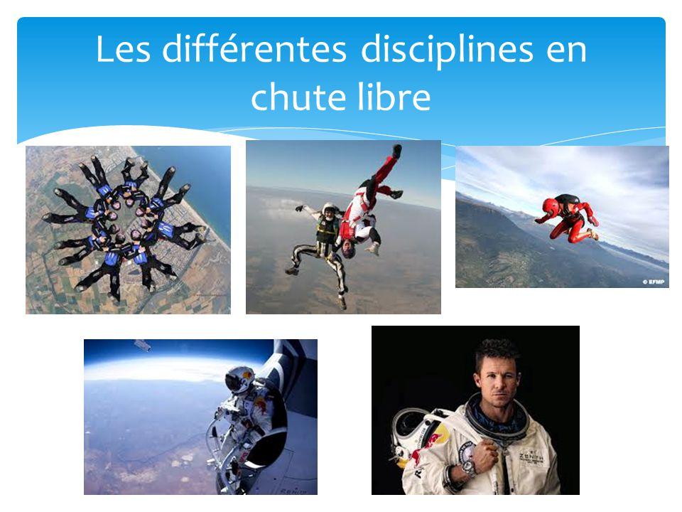 Les différentes disciplines en chute libre