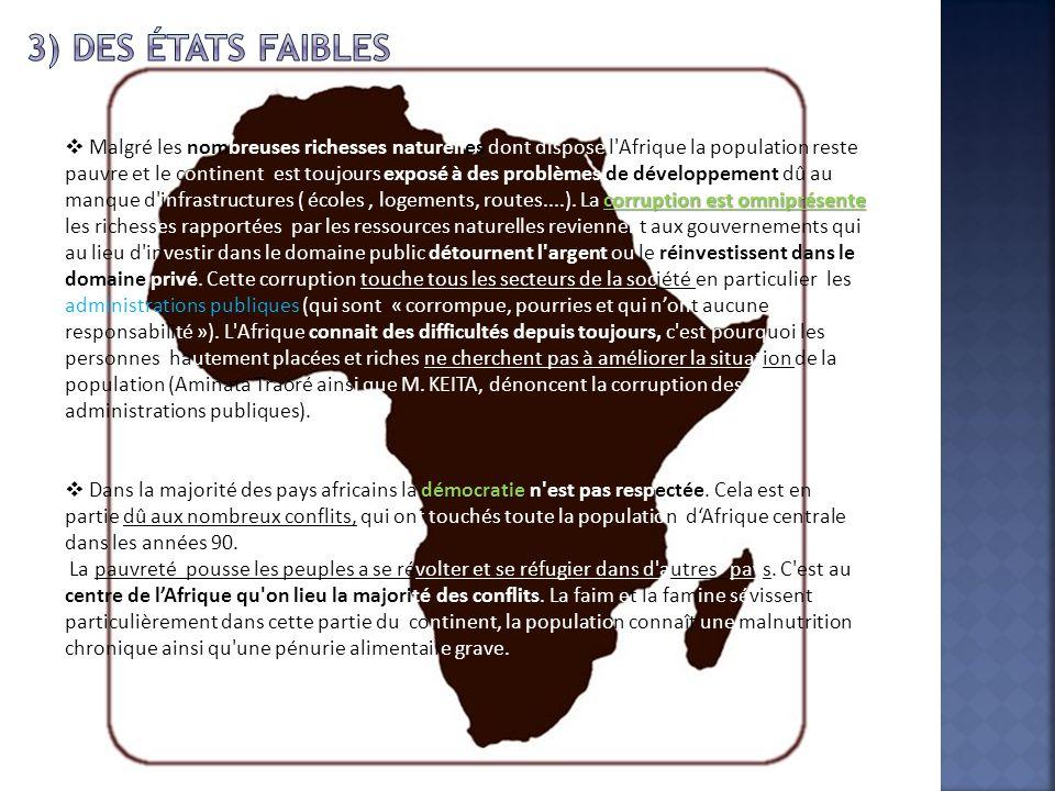3) Des États faibles