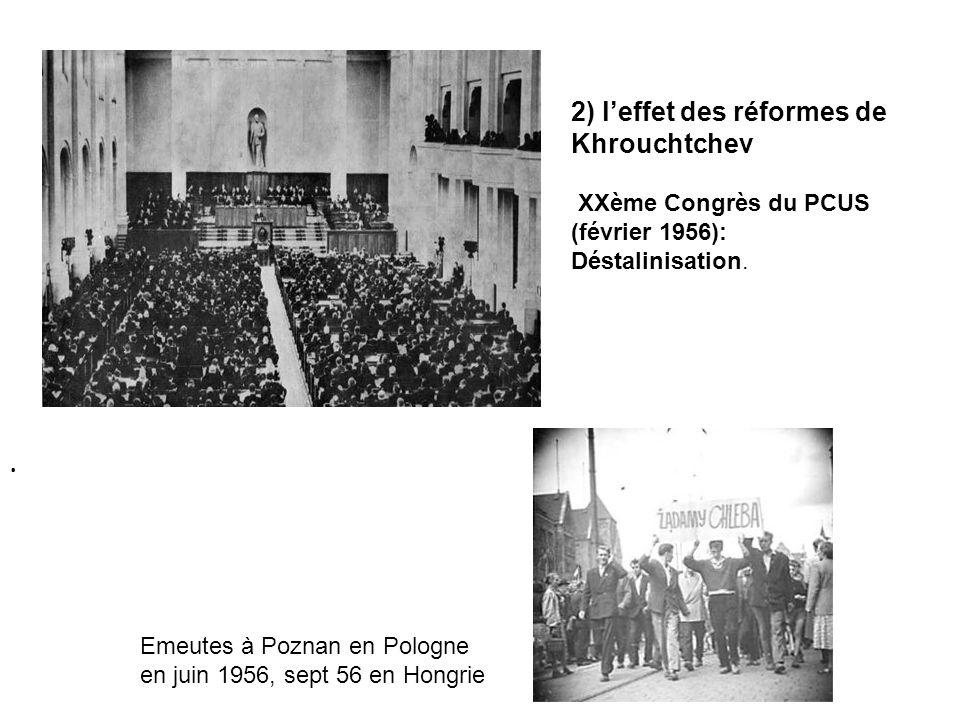 2) l'effet des réformes de Khrouchtchev