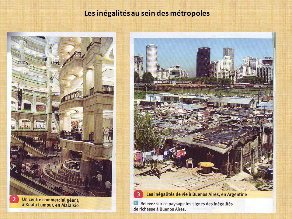 Les inégalités au sein des métropoles