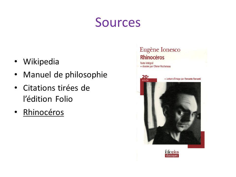 Sources Wikipedia Manuel de philosophie