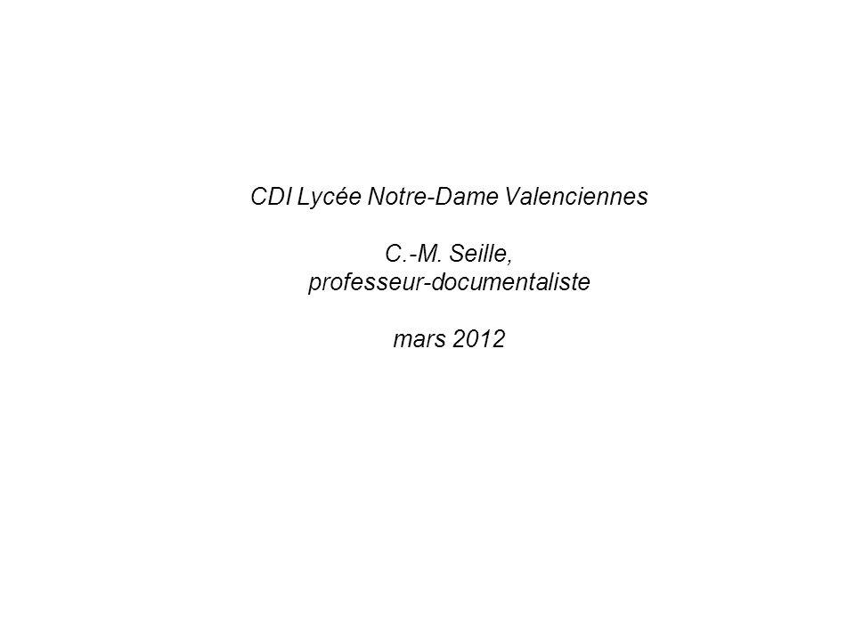 CDI Lycée Notre-Dame Valenciennes C. -M