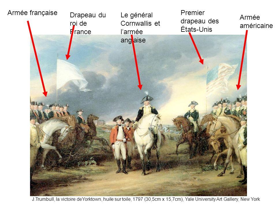 Premier drapeau des États-Unis Drapeau du roi de France