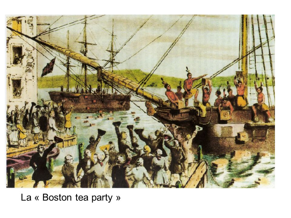 La « Boston tea party »