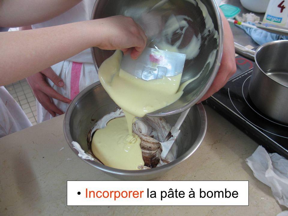 Incorporer la pâte à bombe