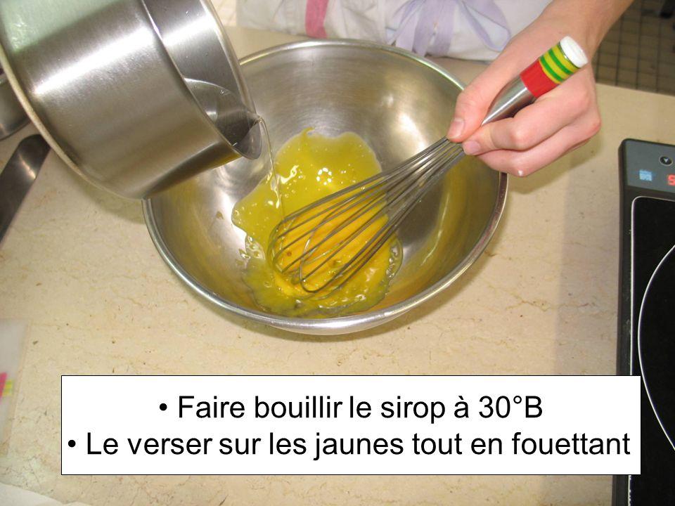 Faire bouillir le sirop à 30°B