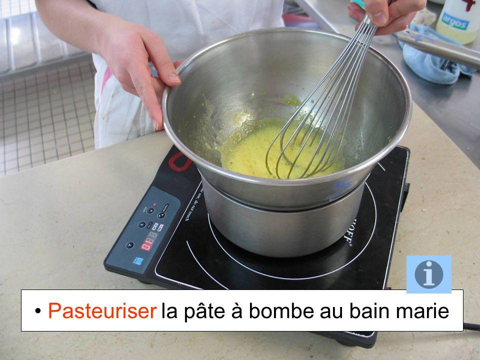 Pasteuriser la pâte à bombe au bain marie