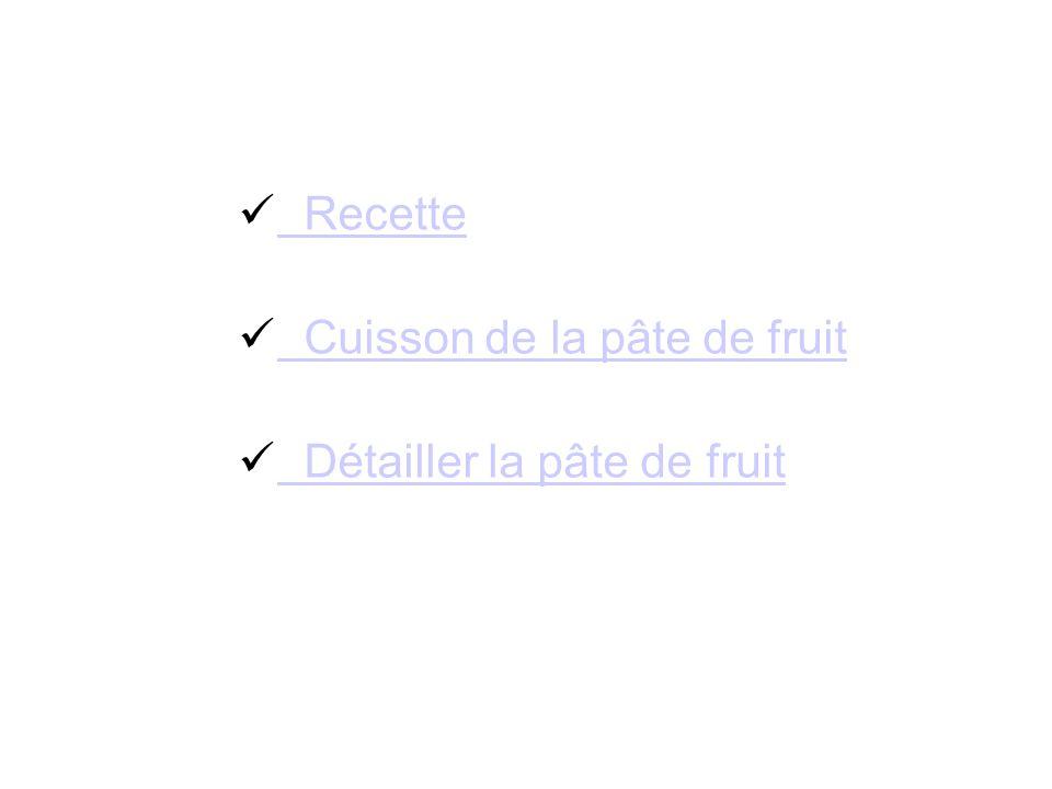 Recette Cuisson de la pâte de fruit Détailler la pâte de fruit