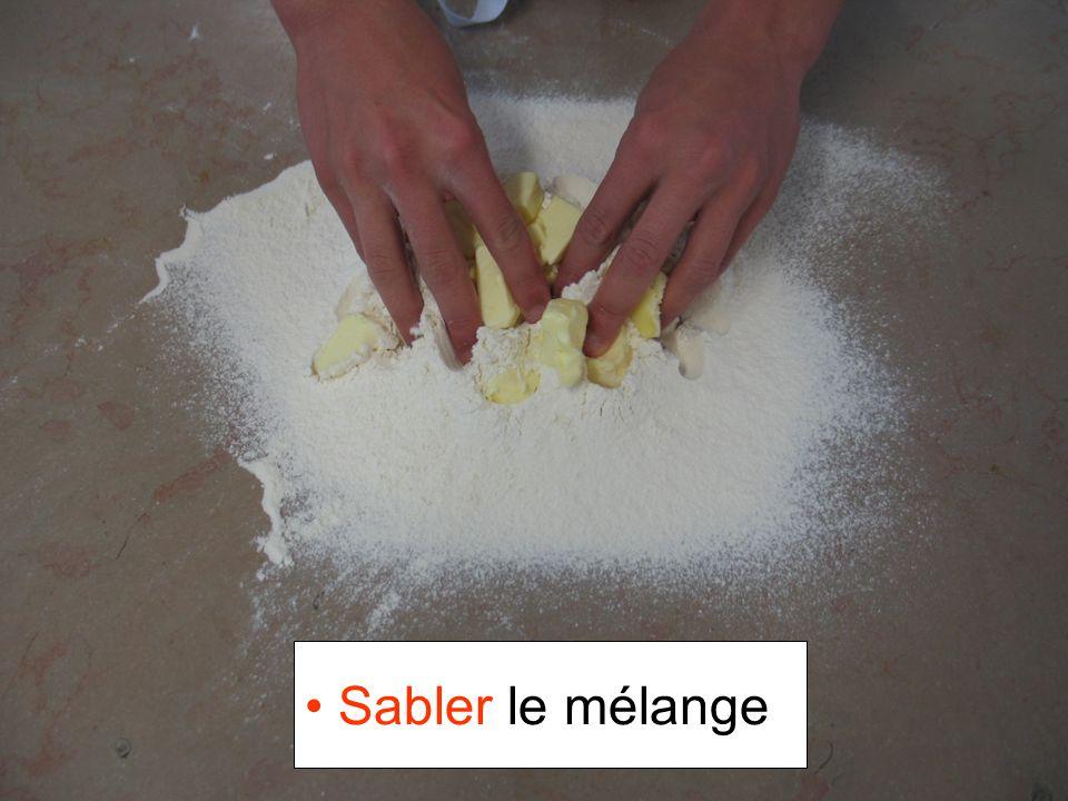 Sabler le mélange