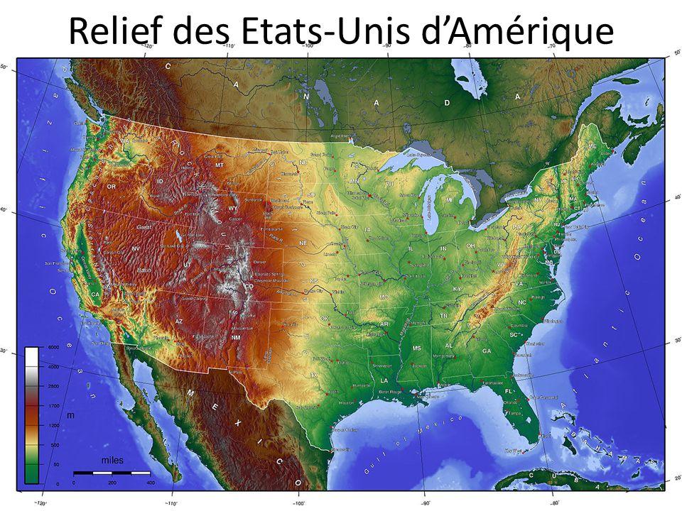 Relief des Etats-Unis d'Amérique