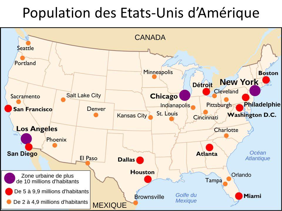 Population des Etats-Unis d'Amérique