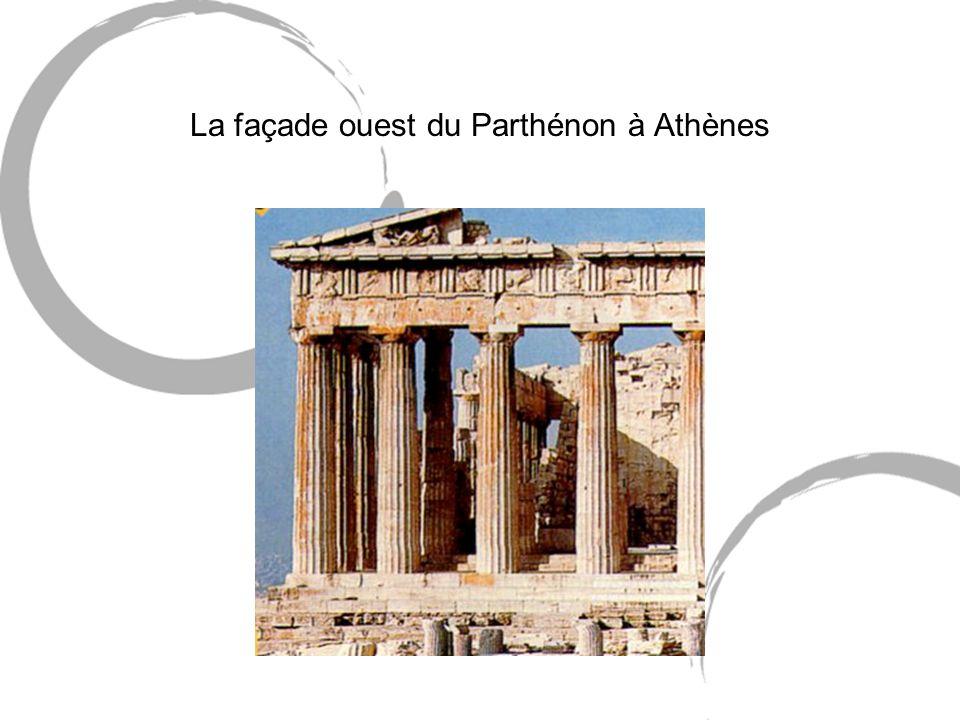 La façade ouest du Parthénon à Athènes