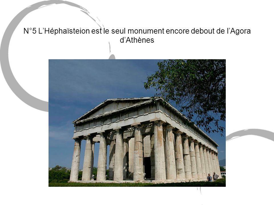 N°5 L'Héphaïsteion est le seul monument encore debout de l'Agora d'Athènes