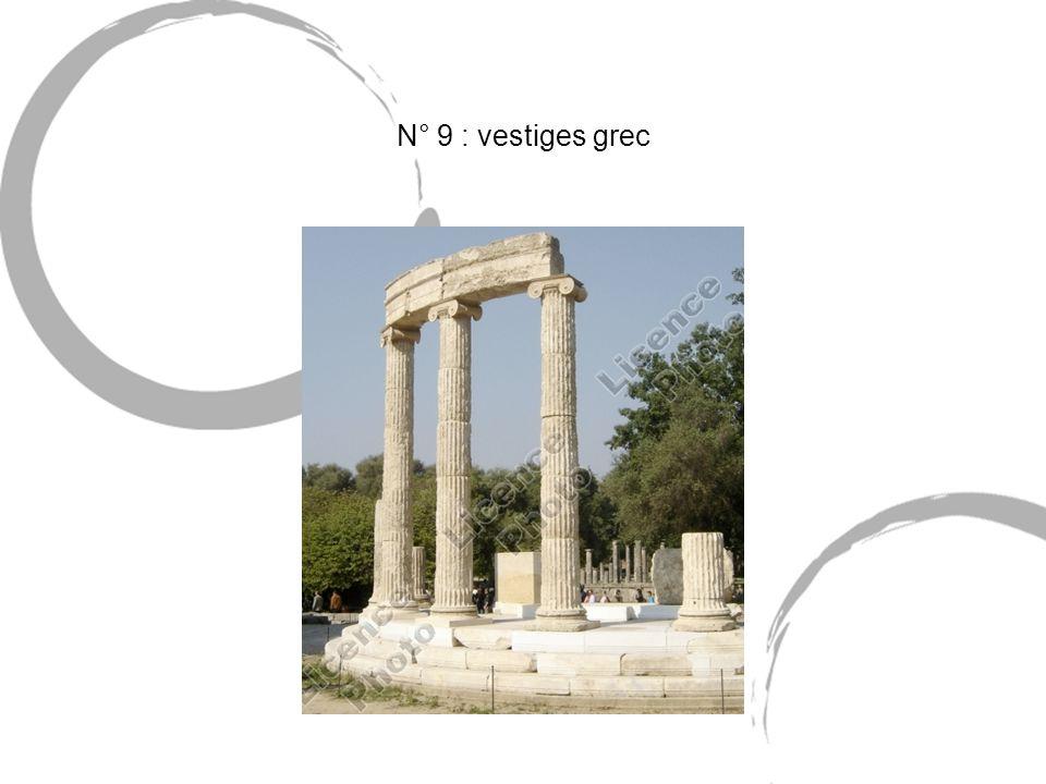 N° 9 : vestiges grec