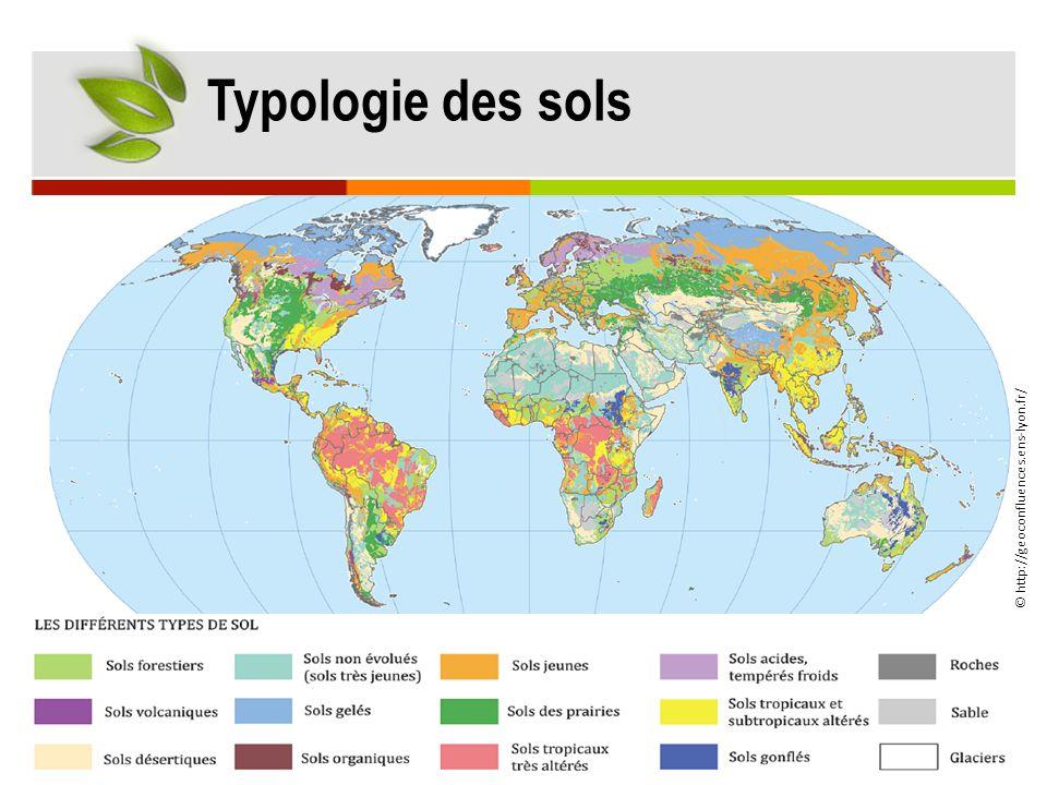 Typologie des sols © http://geoconfluences.ens-lyon.fr/