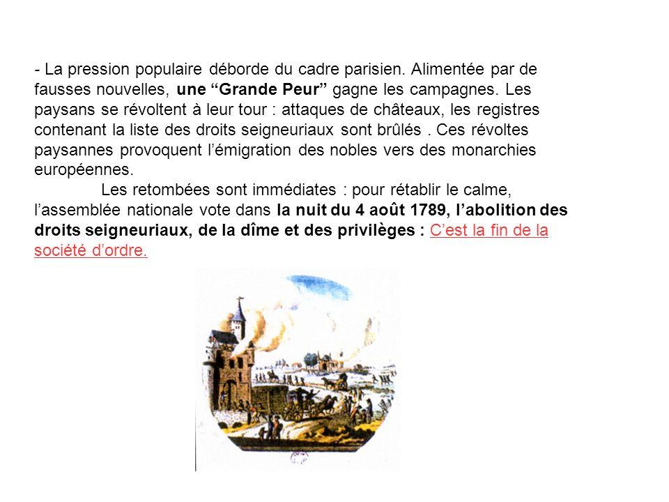 - La pression populaire déborde du cadre parisien